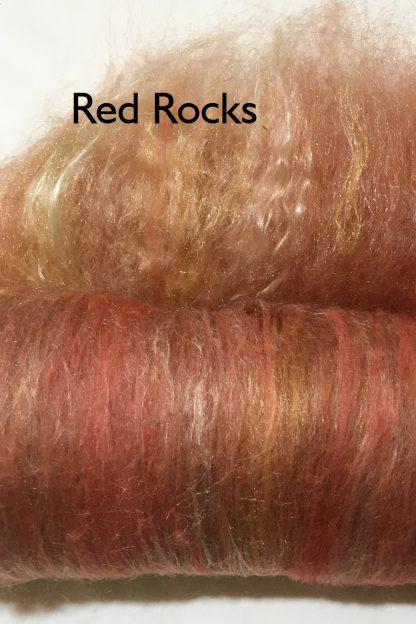 Red Rocks Shine and Luster Luxury Fiber Art Batt