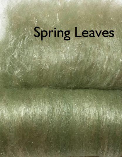 Spring Leaves Shine and Luster Luxury Fiber Art Batt