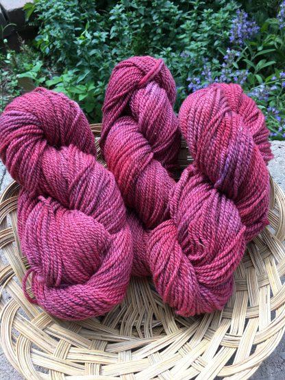 dark crabapple worsted weight yarn