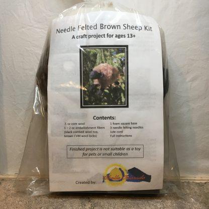 brown sheep needle felting kit
